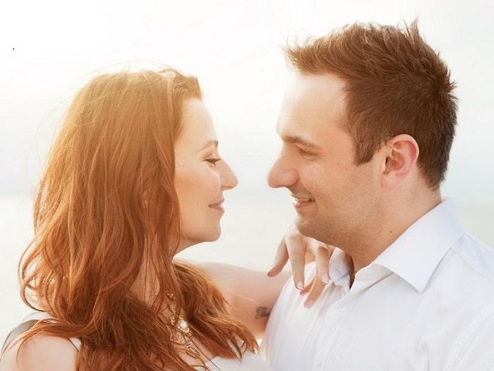 Happy couple prenuptial agreement